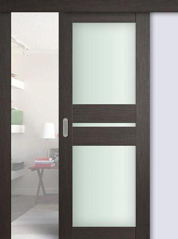 Дверь раздвижная Profil Doors №70Х, стекло матовое, цвет грей мелинга, остекленная