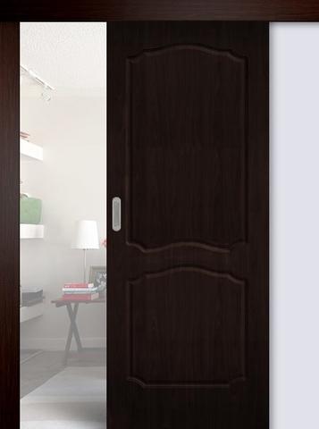Дверь раздвижная Сибирь Профиль Классика, цвет венге, глухая