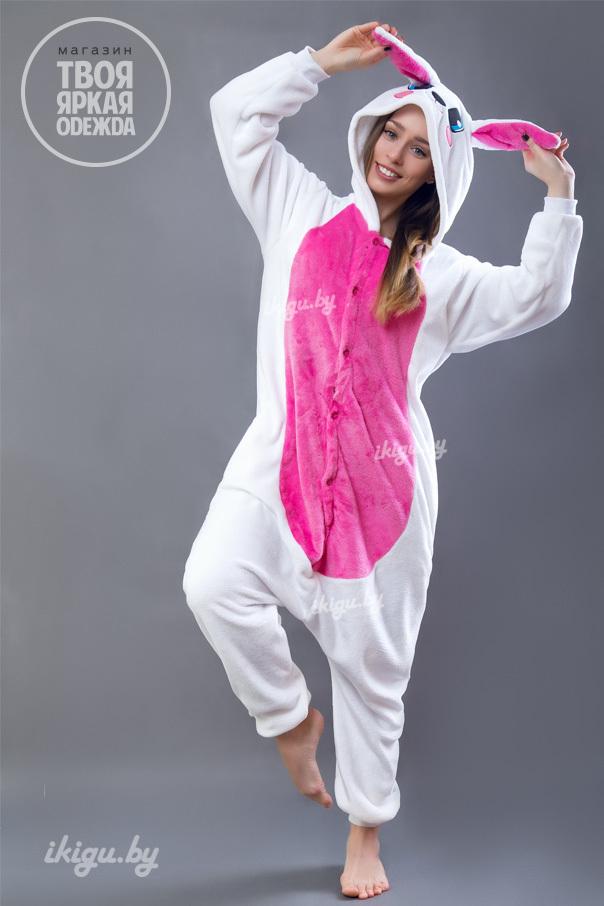 Пижамы кигуруми Заяц Бело - Розовый заяц-роз_.jpg