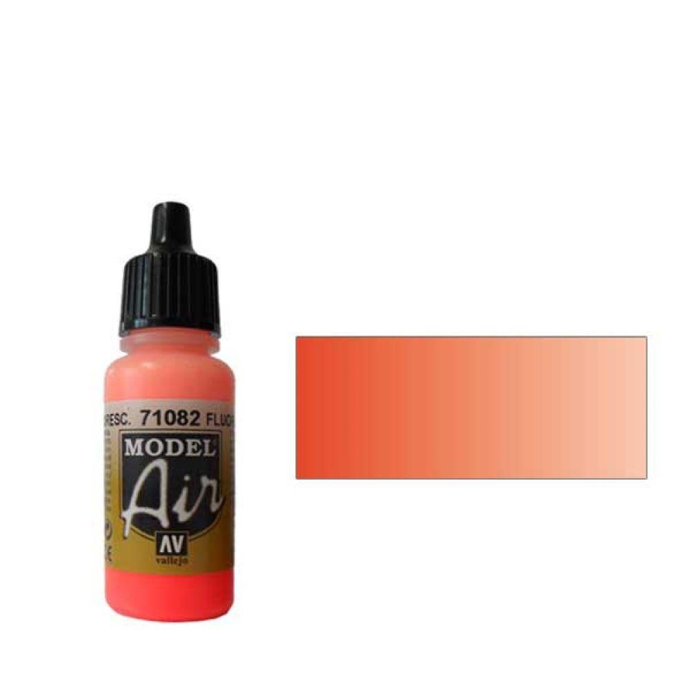 082 Краска Model Air Флюоресцентный красный (Fluorescent Red) укрывистый, 17мл