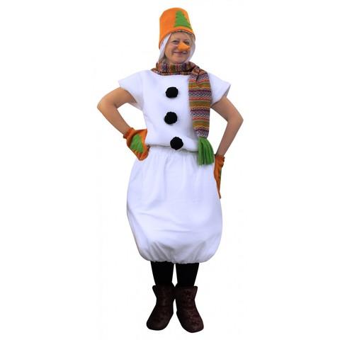 Карнавальный костюм Снеговик в оранжевом ведре