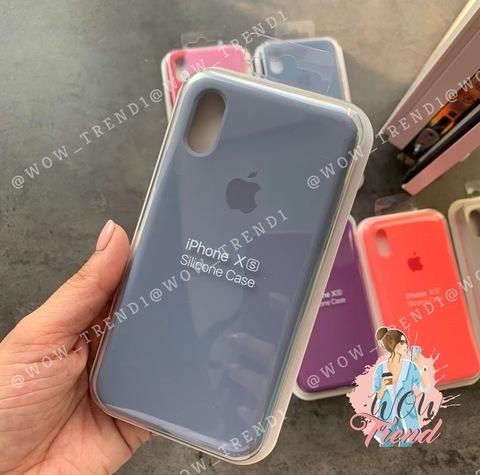 Чехол iPhone XR Silicone Case Full /lavender grey/ серая лаванда