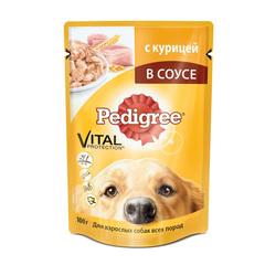 Pedigree для взрослых собак с курицей в соусе 100 г