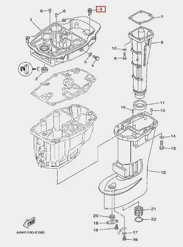 Уплотнение воздуховода для лодочного мотора F20 Sea-PRO (21-3)