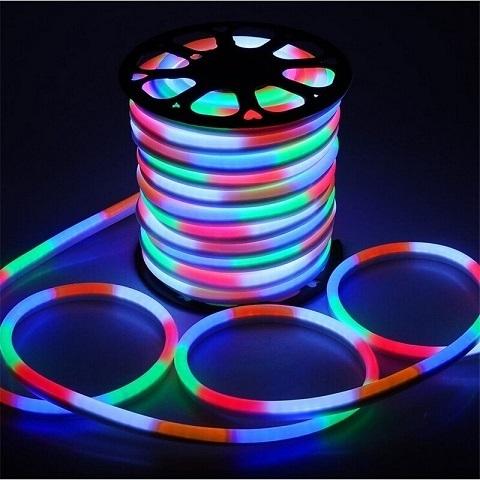Гибкий неон RGB, SMD2835, 15х25 мм, 220В
