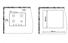 Варочная панель Korting HG 665 CTGX схема