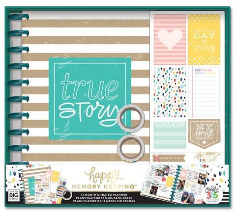 Набор для заполнения ежедневника  + планер Happy Memory Keeping™ BIG Box Kit - 23 х 28 см. - True Story