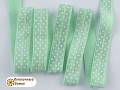 Резинка для повязок в белую точку тиффани 15 мм