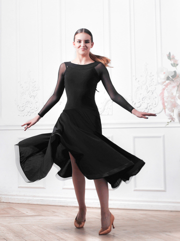 Платье St с рукавами из сетки