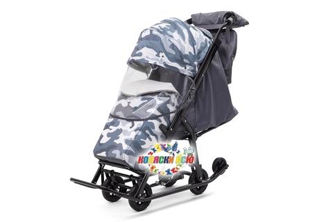 Санки коляска PIKATE Military «Серый»