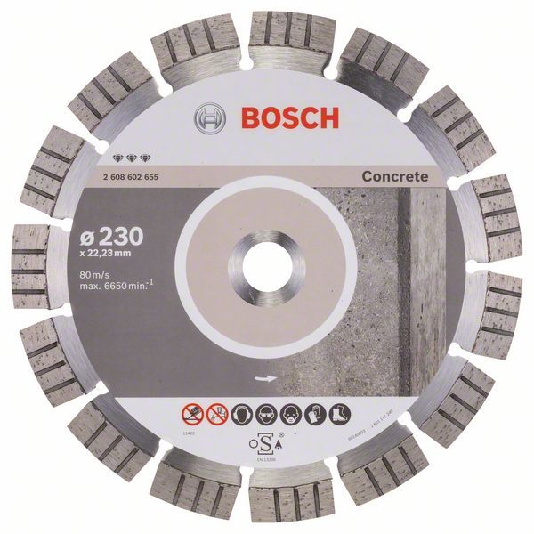 Алмазный диск Best for Concrete 230-22,23 Bosch 2608602655