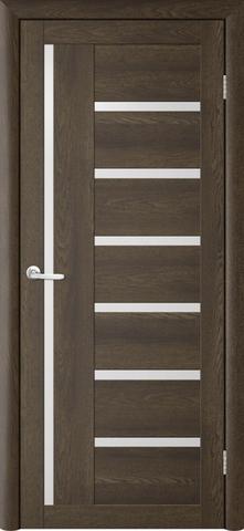 Дверь TrendDoors TDT-3, стекло белое матовое, цвет дуб оксфорд, остекленная