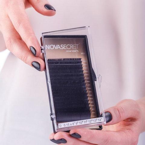 """Ресницы NOVASEСRET standart Черные, изгиб """"D mix"""""""