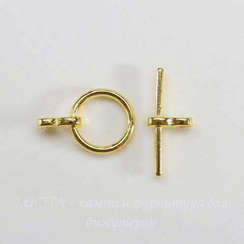 "Замок - тоггл из 2х частей ""Кольцо простое"" (цвет - золото) 19х12 мм , 19х3 мм"