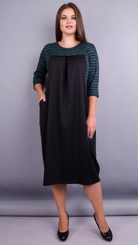 Роксолана. Оригинальное платье больших размеров. Изумруд.