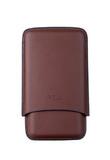 Чехол P&A на 3 сигары Churchill, кожа, коричневый T369-brown