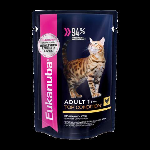 Eukanuba Adult Top Condition Chicken Консервы для взрослых кошек с курицей