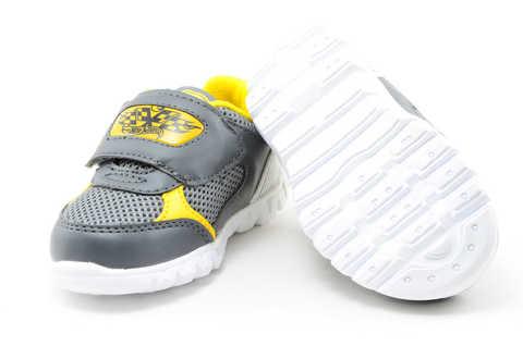 Светящиеся кроссовки для мальчиков Хот Вилс (Hot Wheels), цвет темно серый, мигают картинки сбоку и на липучках. Изображение 9 из 12.