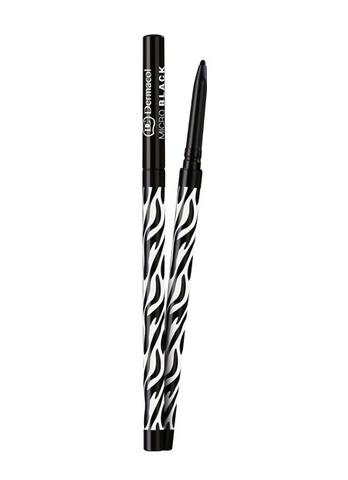 Dermacol Micro black Водостойкий ультратонкий механический карандаш для глаз (черный)