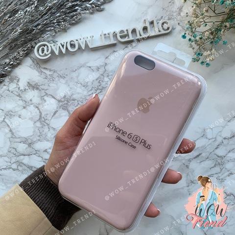 Чехол iPhone 6+/6s+ Silicone Case /pink sand/ розовый песок 1:1