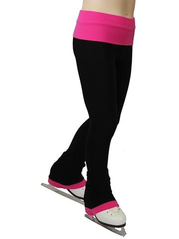 Термобрюки с широким поясом (розовый)