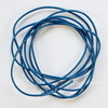 Шнур (нат. кожа), 1 мм, цвет - синий, примерно 1 м