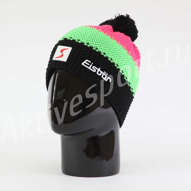 Шапки крупной вязки Шапка вязаная с помпоном Eisbar Star Neon Pompon SP 909 IMG_0931.jpg