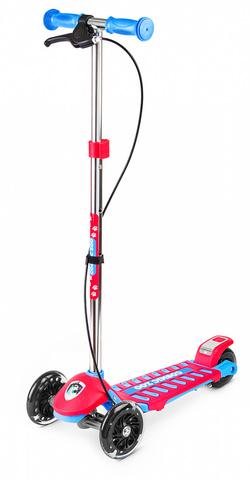 Детский самокат трёхколёсный - ручной тормоз и светящиеся колёса