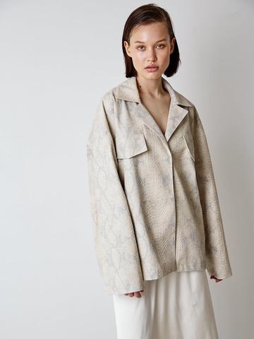 Куртка из эко кожи Рептилия