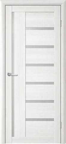 Дверь TrendDoors TDT-3, стекло белое матовое, цвет лиственница белая, остекленная