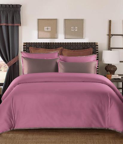 Постельное белье однотонное Coctail розовый-терракотовый, Sharmes