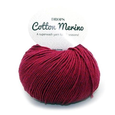 Пряжа Drops Cotton Merino 07 бордо