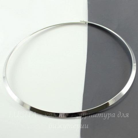 Основа для колье (цвет - платина) 44 см (1)