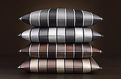 Наволочка 70x70 Elegante Stripe серая
