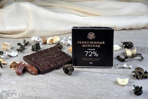 Шоколад Горький, 72% какао, на пекмезе (классический) 90 г