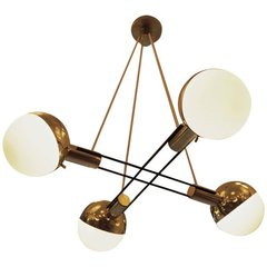 Four  Lamp Chandelier by Fedele Papagni