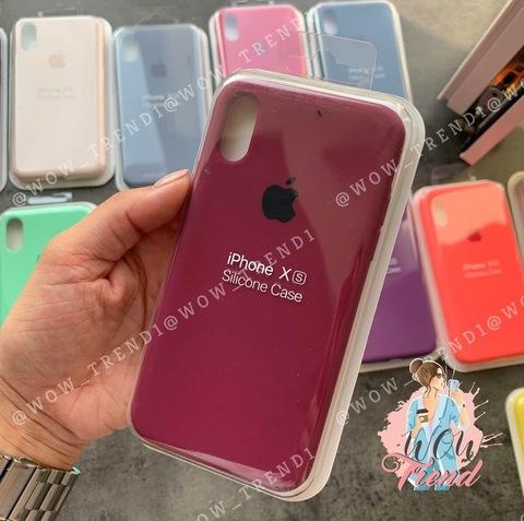 Чехол iPhone XR Silicone Case Full /marsala/ марсал