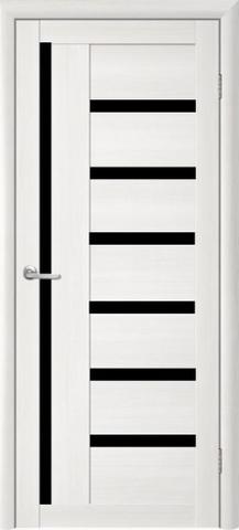 Дверь TrendDoors TDT-3, стекло чёрный акрилат, цвет лиственница белая, остекленная