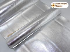 Кожа блестящая серебряная