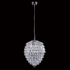 Подвес Crystal Lux CHARME SP3+3 LED CROMO/CRYSTAL
