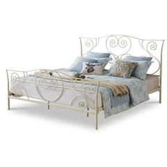 Кровать ESF TDF-0818 кремовая с золотом