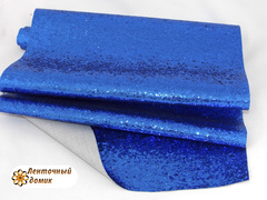 Глиттер крупный на тканевой основе синий