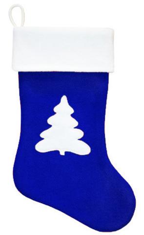Рождественский сапожок Ёлочка синий