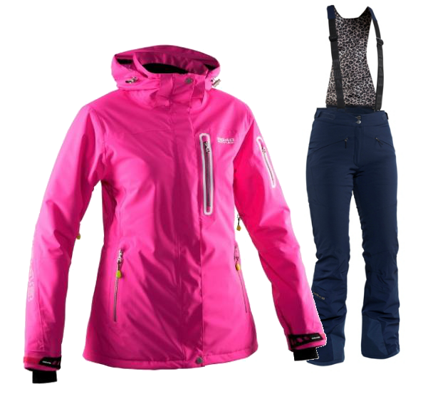 Женский горнолыжный костюм 8848 Altitude Aruba/Poppy (6969I9-668615)