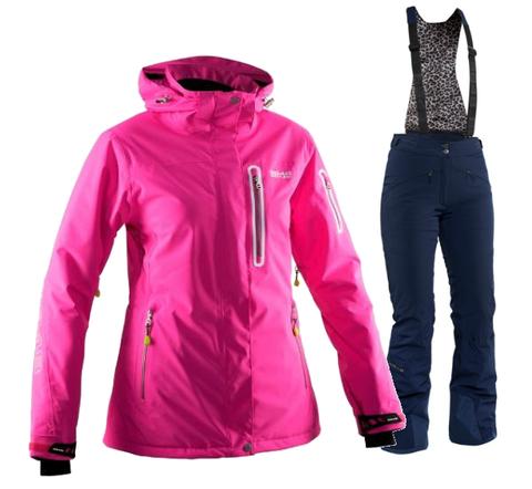 Женский горнолыжный костюм  8848 Altitude Aruba/Poppy (flox/navy)