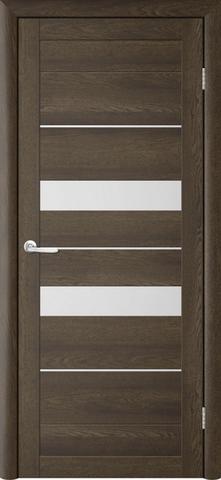 Дверь TrendDoors TDT-4, стекло белое матовое, цвет дуб оксфорд, остекленная