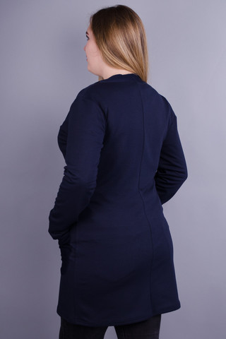 Кардо. Стильний жіночий кардиган великих розмірів. Синій.