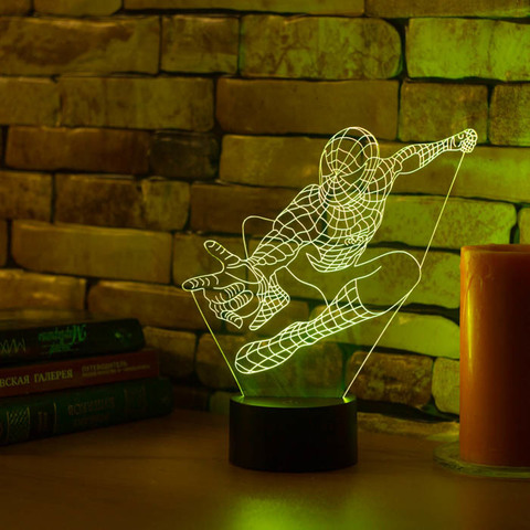 3D ночник Человек паук #2