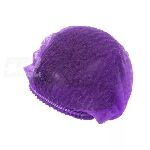 Шапочка одноразовая 100 шт фиолетовая
