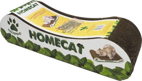 Homecat Mini когтеточка для котят Мятная волна 41x12x10см (гофрокартон)